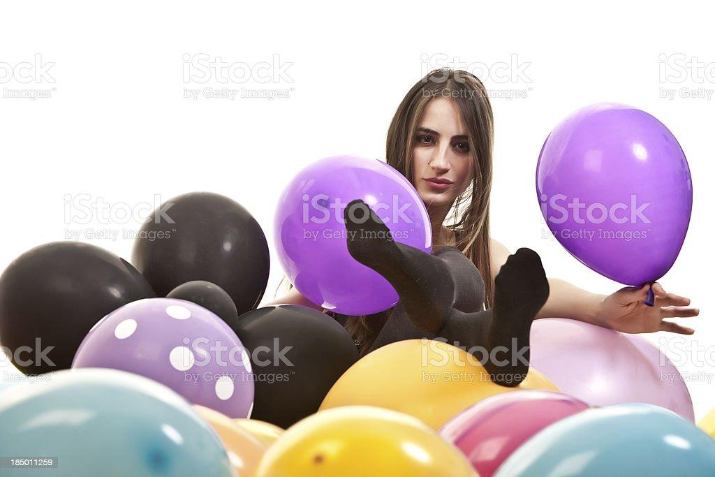 Schönheit und Ballons – Foto
