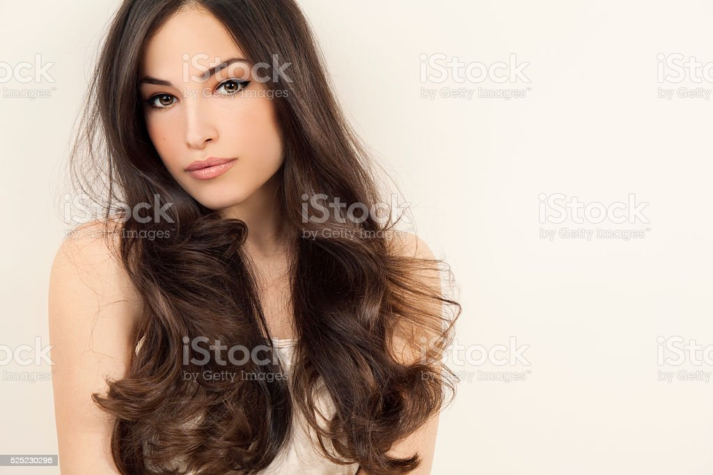 beauty and hairstyle stock photo