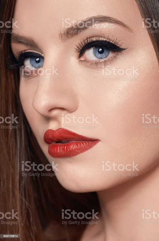 beauty and makeup stock photo