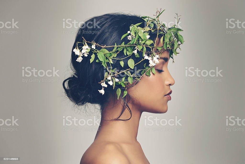 Beauty and nature combined bildbanksfoto