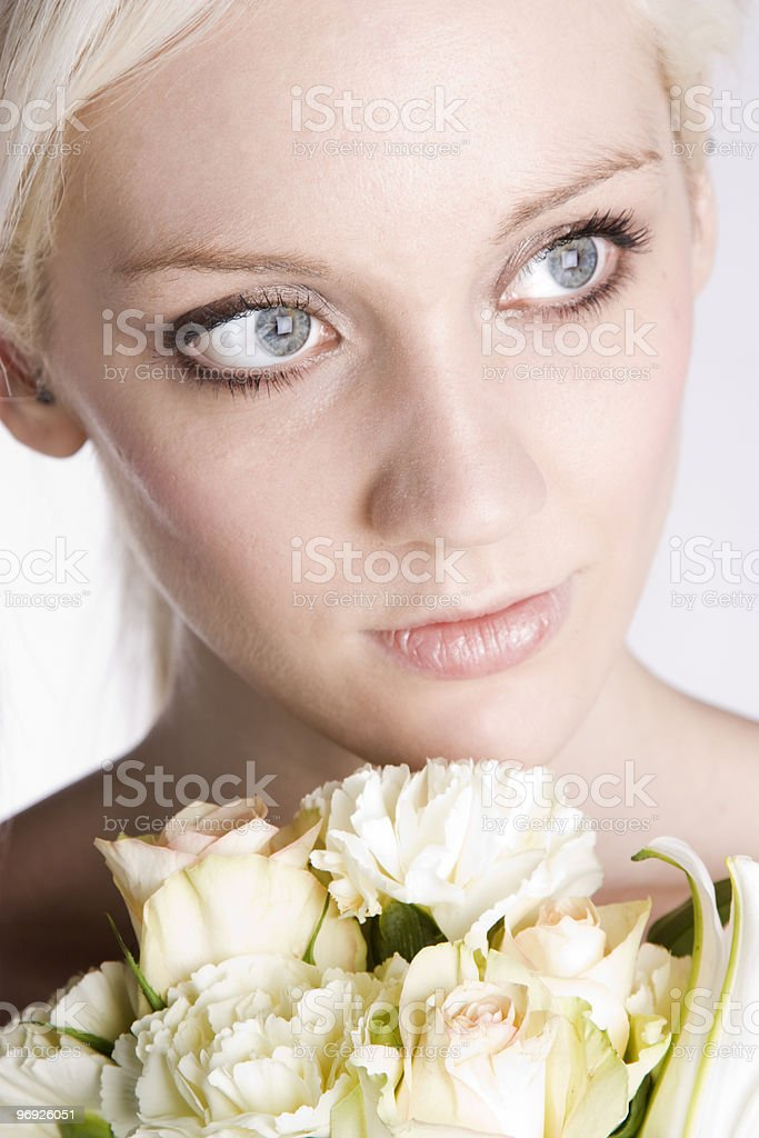 Beauty and roses royalty-free stock photo