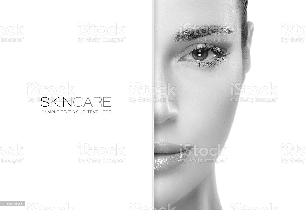 Beauty and Skincare concept. Template Design stock photo