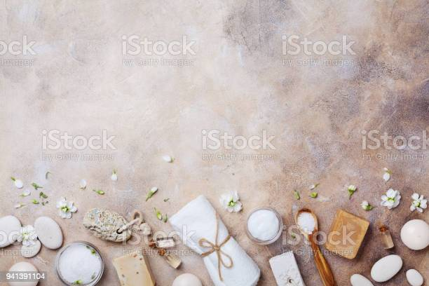 Beauty and spa supplies for body care and relaxation background flat picture id941391104?b=1&k=6&m=941391104&s=612x612&h=o03goxhz 1ucgggiq6ytoyenwj4rbulspkumuv8te0e=
