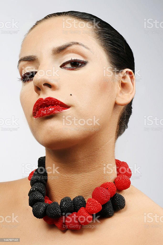 Beauty and sweet make up stock photo