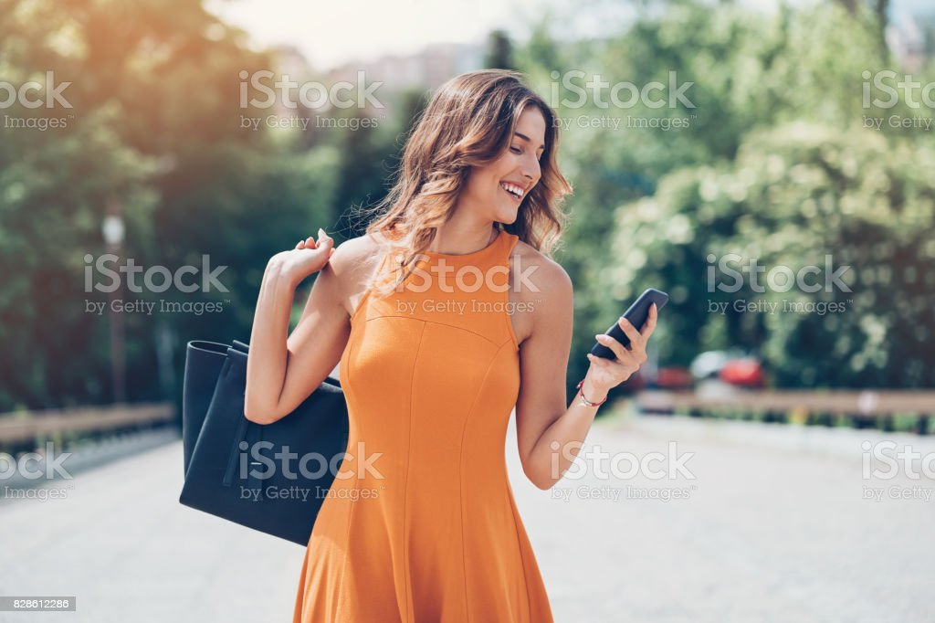 Beauty and technology stock photo