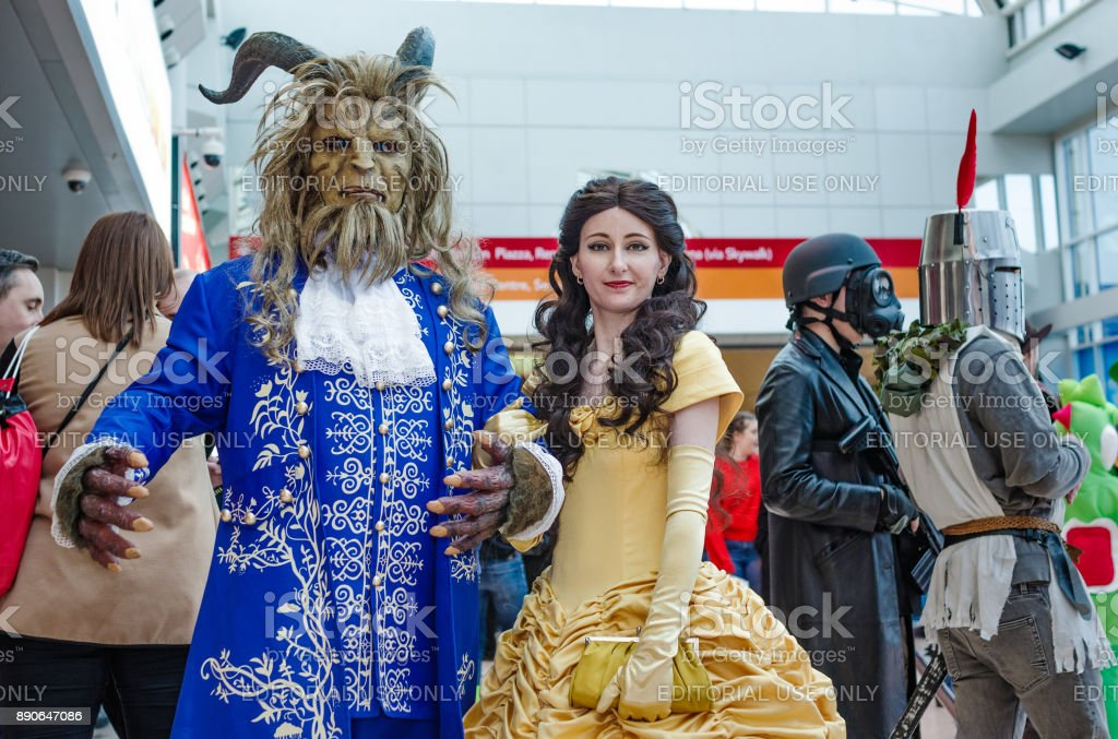 Beauty and the Beast cosplay stock photo