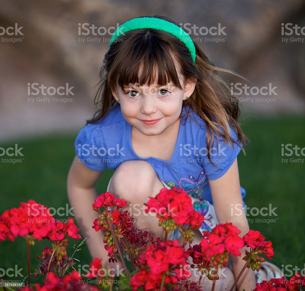 Beauty and the Blossoms royalty-free stock photo