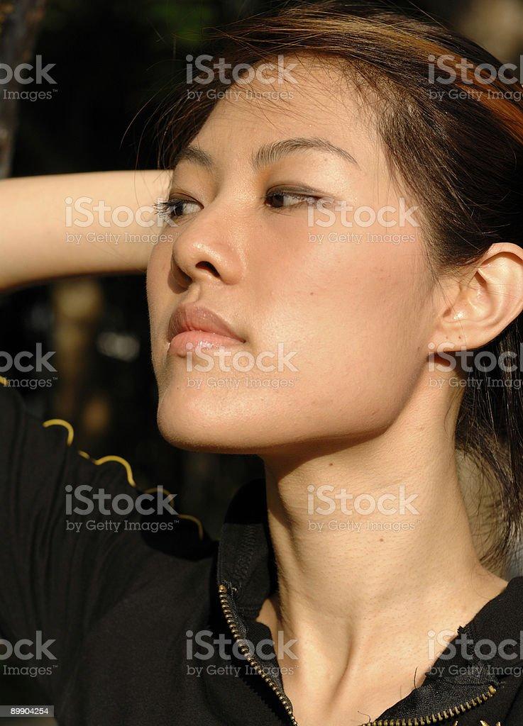 Beauty - Asian fitness/sports royalty-free stock photo