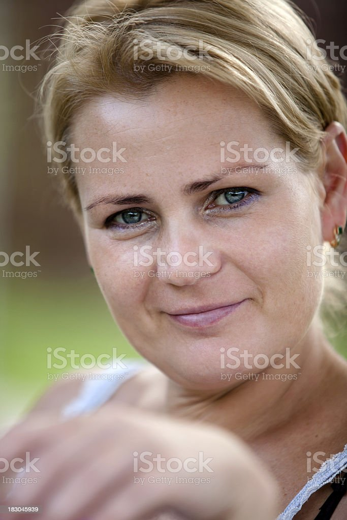 Beauty at her forties royalty-free stock photo