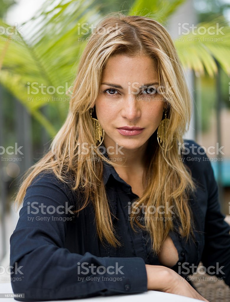 beauty at her thirties stock photo