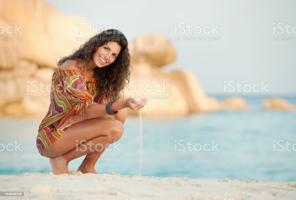 Schönheit am Strand, La Digue, Seychellen (XXXL – Foto