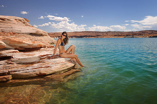 Beauty at the Beach, Lake Powell (XXXL) stock photo