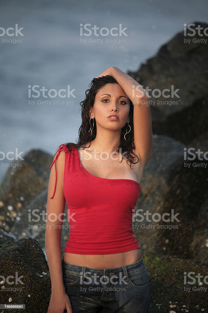 Beauty at the Beach stock photo