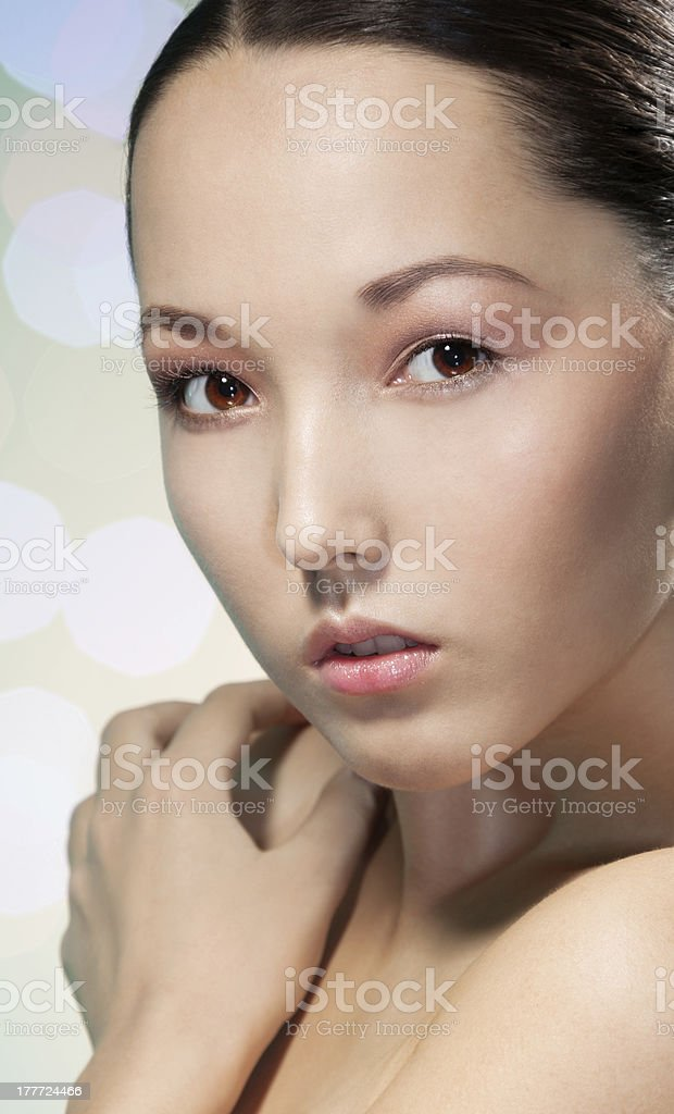 Beauty attractive Asian woman royalty-free stock photo