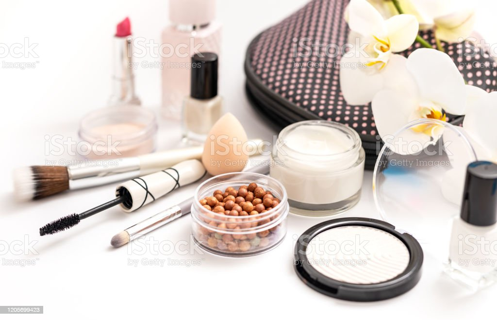 Beauty Background With Facial Cosmetic Products Makeup Skin Care Concept Stock Photo Download Image Now Istock