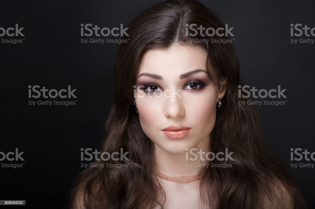 beauty beautiful woman face make up conceptual stock photo