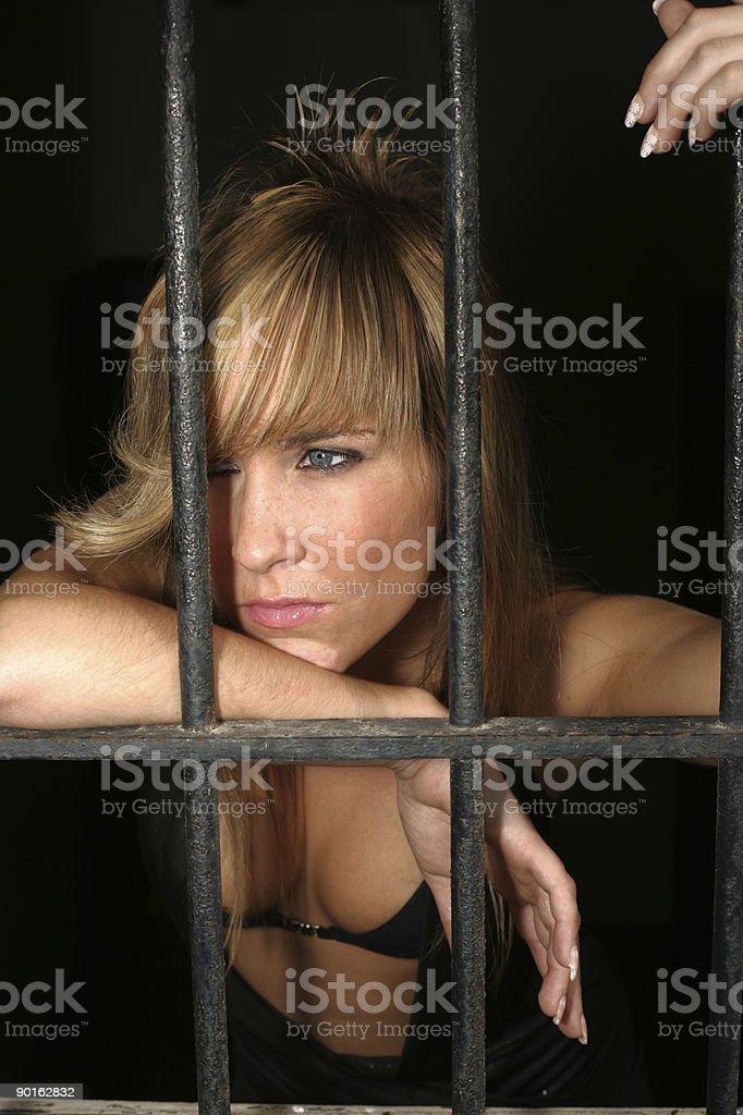 Beauty behind Bars royalty-free stock photo