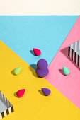 istock Beauty blenders isolated on colorful background 1132952095