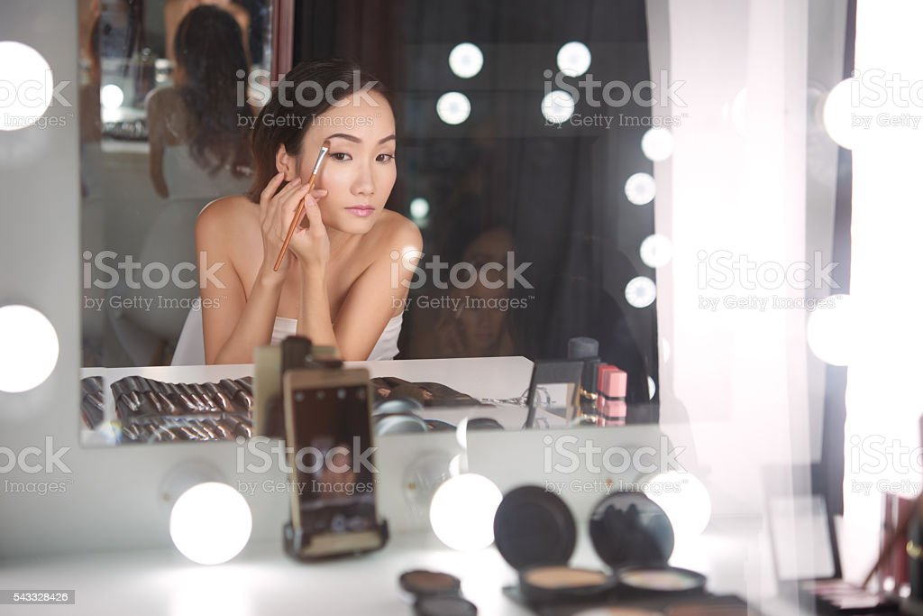 Beauty blogger stock photo
