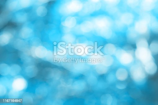 Beauty Blue Bokeh Abstract Background