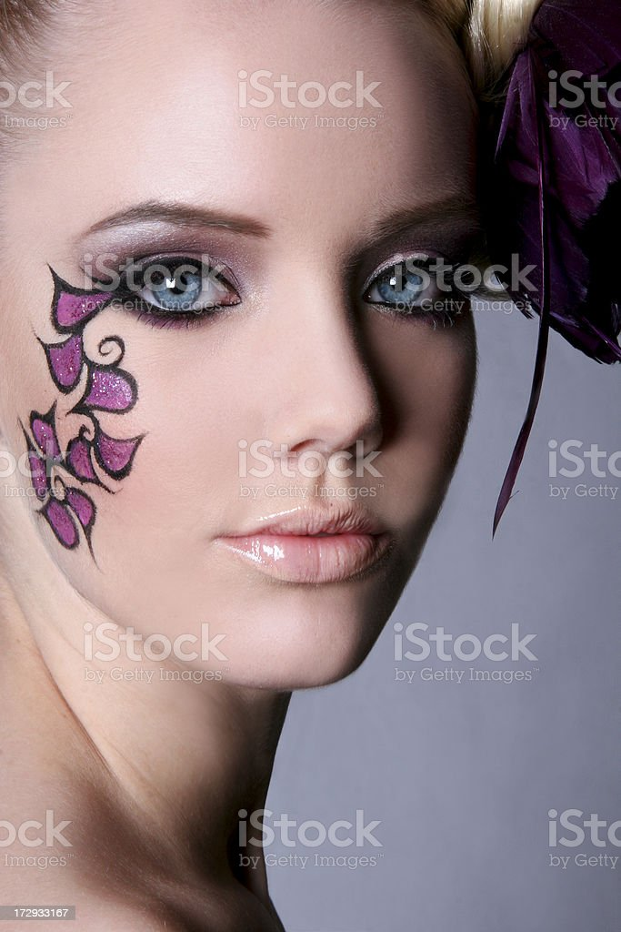 Beauty Blue Eyes royalty-free stock photo