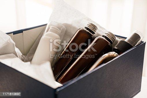 1042453716 istock photo Beauty box set of natural cosmetics 1171810692
