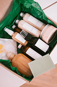 istock Beauty box with bottles of natural cosmetics 1000089350