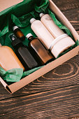 istock Beauty box with bottles of natural cosmetics 1042715758