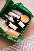 istock Beauty box with bottles of natural cosmetics 993961776