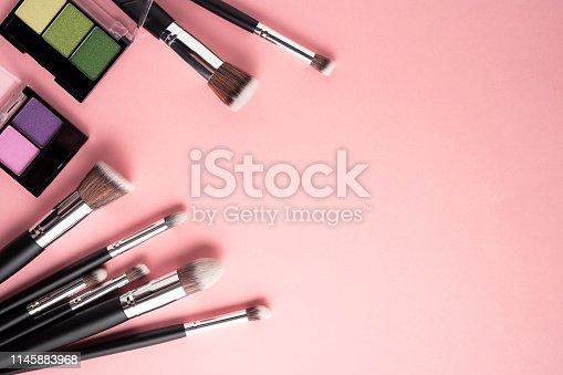 istock Beauty brushes. 1145883968