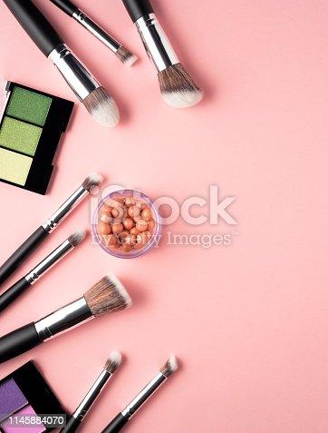 istock Beauty brushes. 1145884070