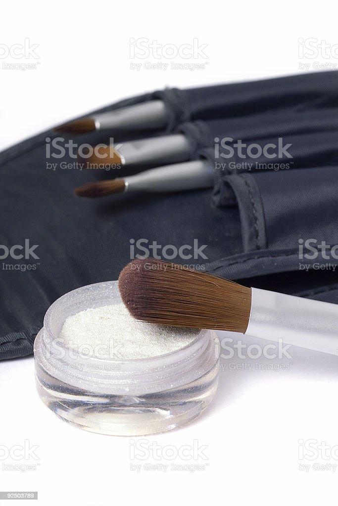 Beauty brushes royalty-free stock photo