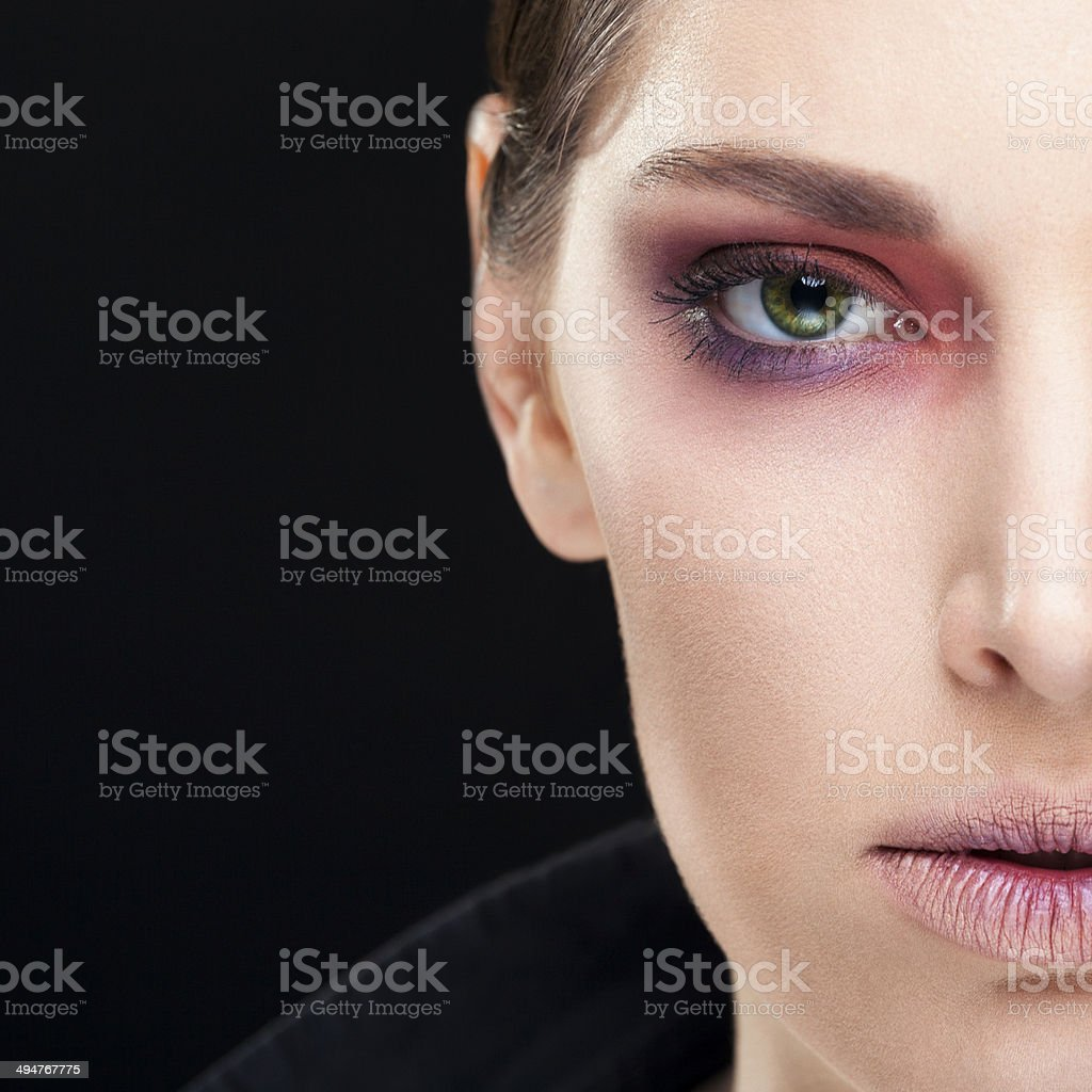 Beauty closeup portrait  of young woman royalty-free stock photo