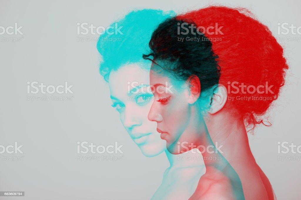 Schönheit Nahaufnahme Profil portrait der schönen Frau – Foto