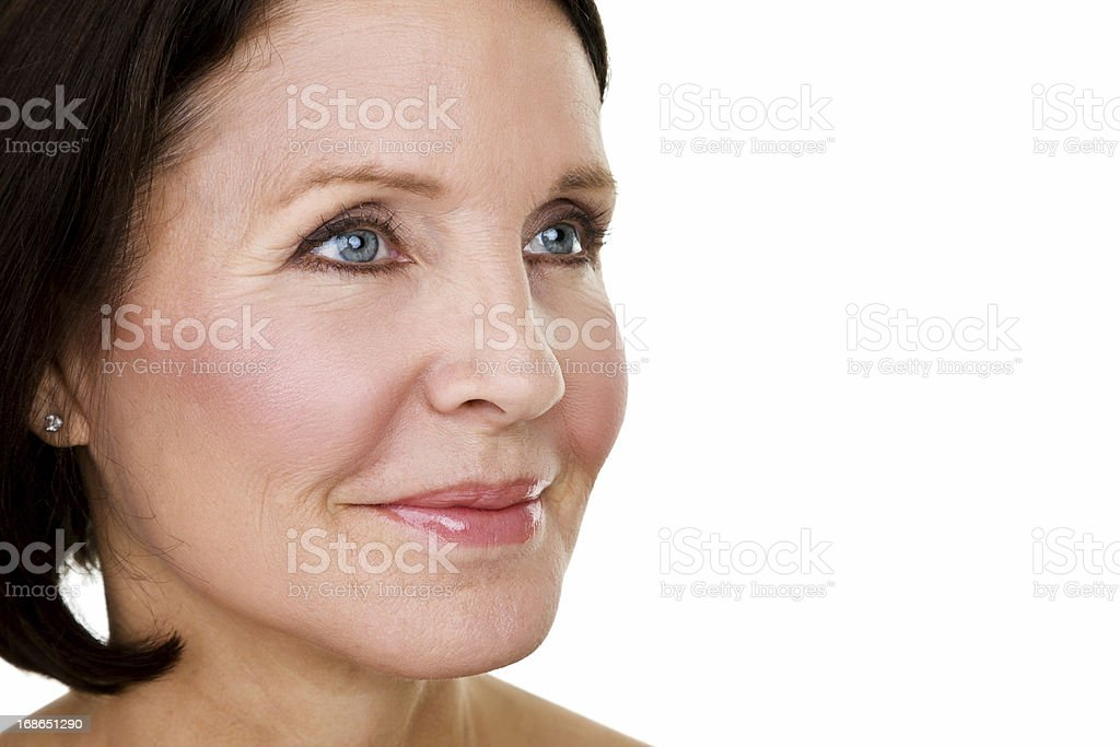 Beauty concept for mature woman royalty-free stock photo