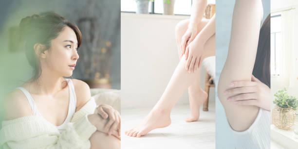 アジアの女性の美しさの概念。コラージュ写真。 - beauty and health ストックフォトと画像