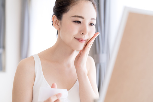 istock Beauty concept of asian girl. Skin care. 1132939617