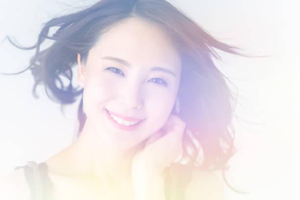 アジアの女性の美しさの概念。 - 魅力的 ストックフォトと画像