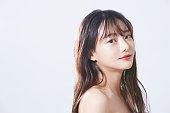 アジアの若手女性の美人概念の肖像