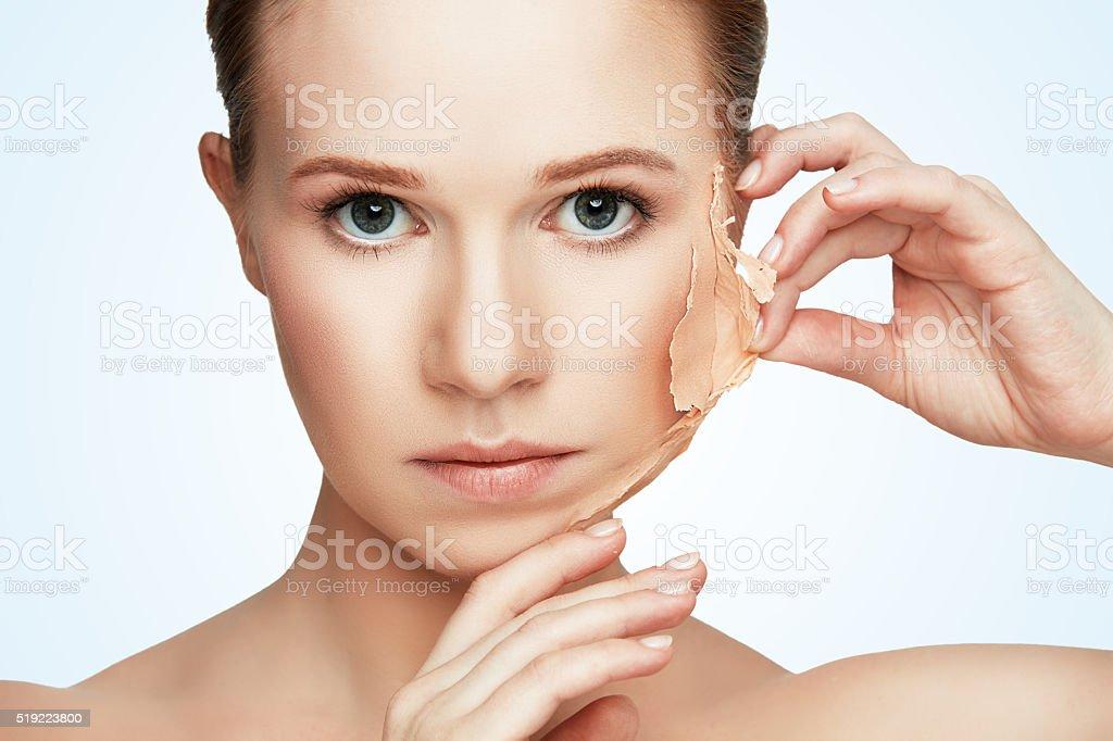 beauty concept rejuvenation, renewal, skin care, skin problems stock photo