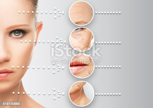 istock beauty concept skin aging. anti-aging procedures, rejuvenation, lifting, 516140685