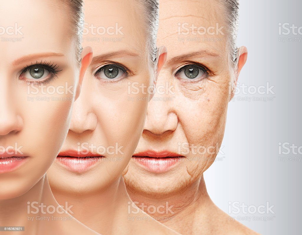 beauty concept skin aging. anti-aging procedures, rejuvenation, lifting, stock photo