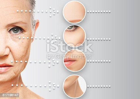 istock beauty concept skin aging. anti-aging procedures, rejuvenation, 517198147