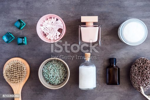 824824368 istock photo SPA beauty cosmetics from above 820089030