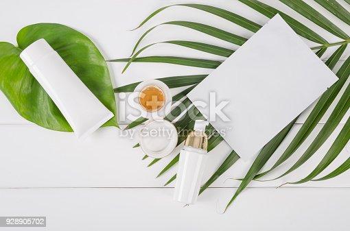 istock Beauty Cosmetics Set on table 928905702
