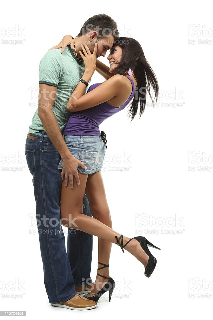 Beauty couple dancing royalty-free stock photo