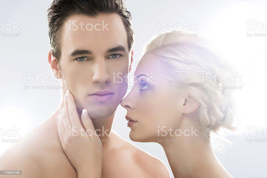 Beauty couple. stock photo