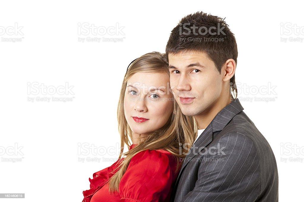 beauty couple royalty-free stock photo