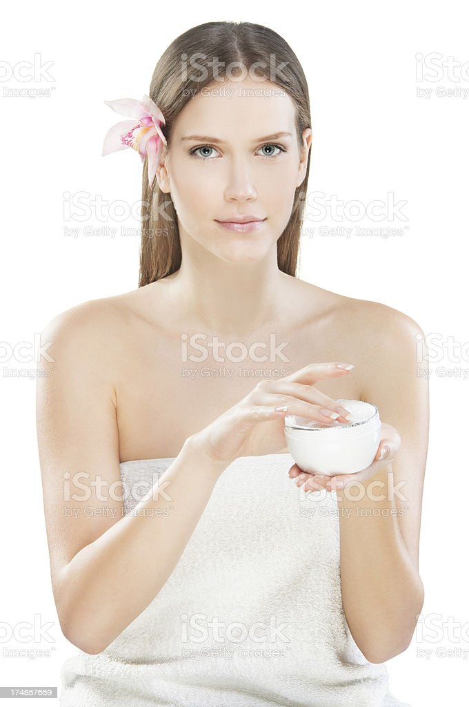 Beauty cream stock photo