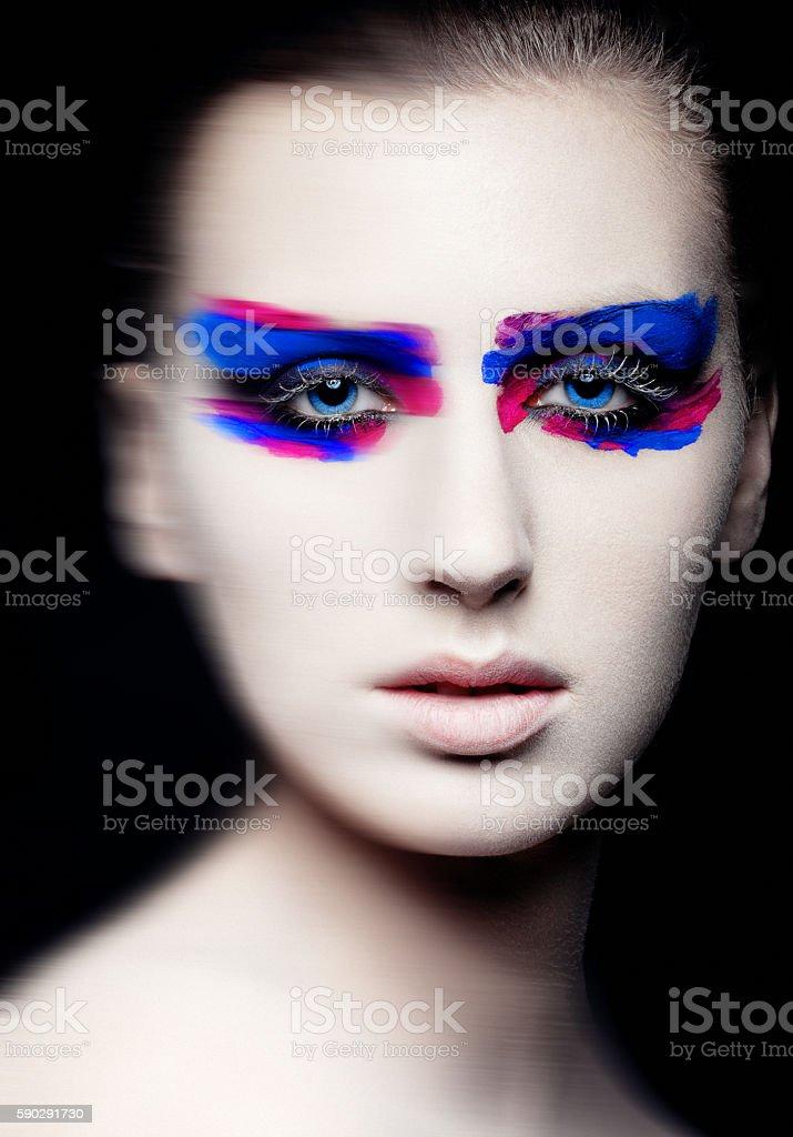 Beauty creative art makeup on black background Стоковые фото Стоковая фотография